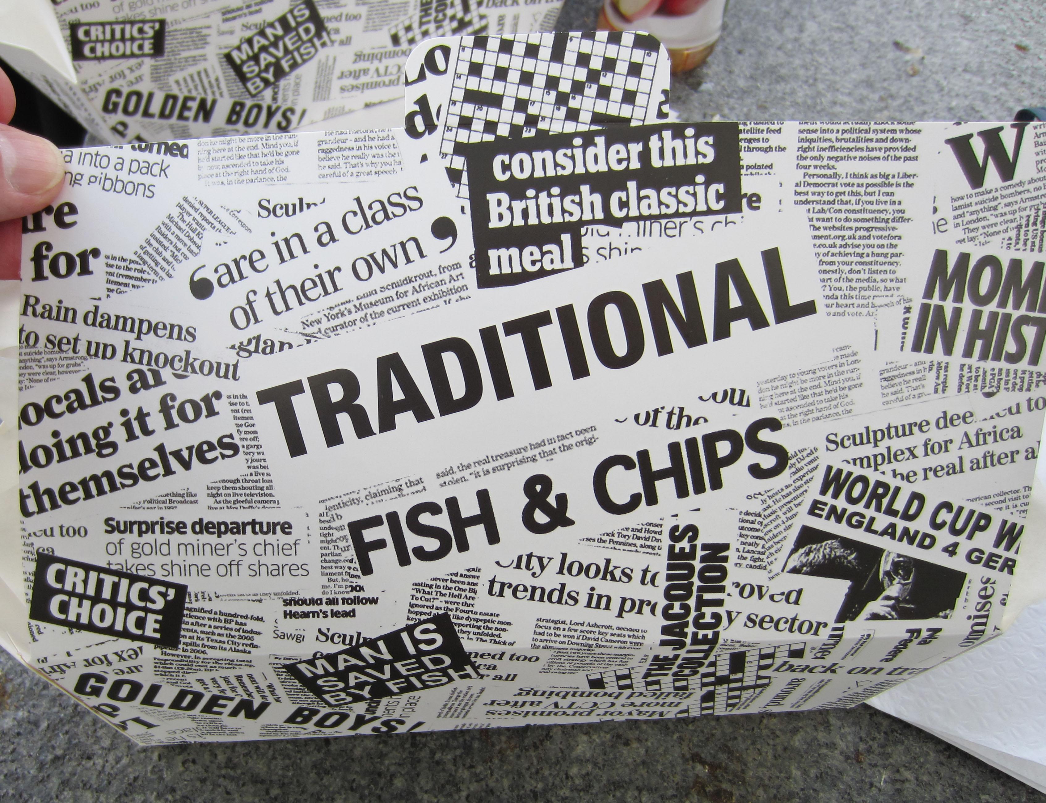 Newspaper motif...