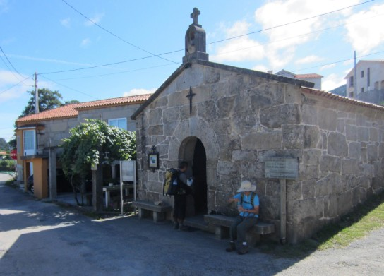 A small roadside chapel in Spain.