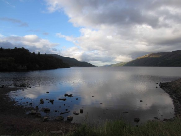 The quiet waters of Loch Ness on the evening of our arrival in Fort Augustus.