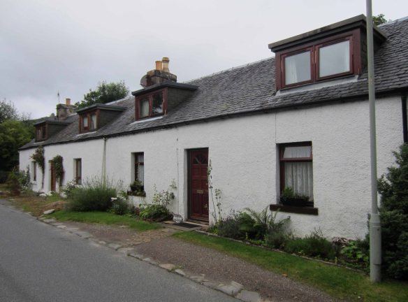 A strip of old houses in Drumnadrochit.