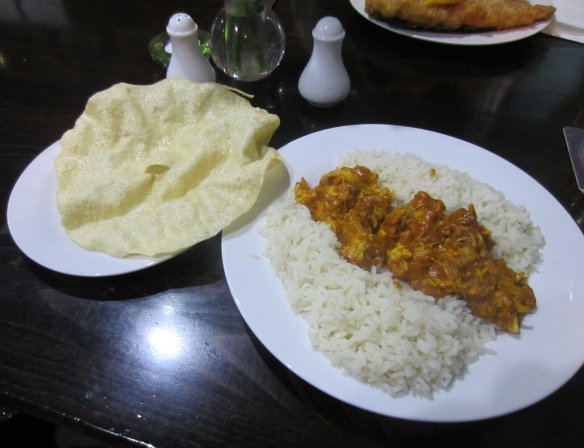 Chicken masala, English country style.