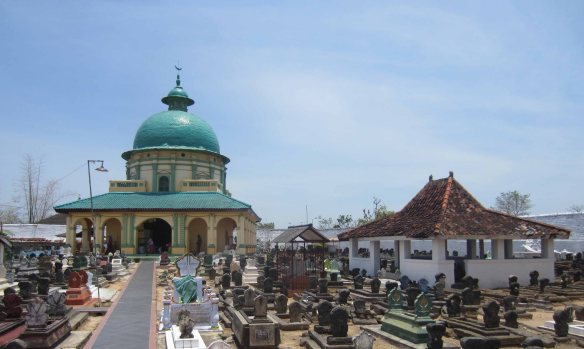 An Italianate mausoleum in Sumenep's Asta Tinggi royal burial ground